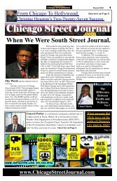 When We Were South Street Journal. Chicago Street Journal for March 18, 2018.