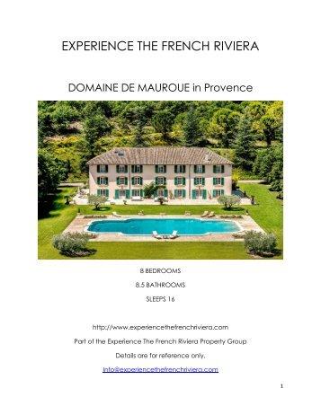 Domaine De Mauroue - Provence