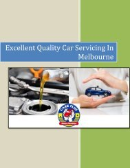 Excellent Quality Car Servicing In Melbourne - Care Plus Auto Services