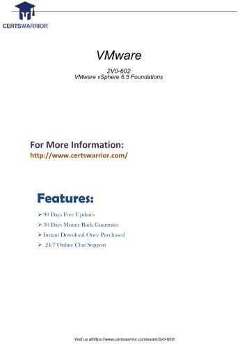 [2018] Updated 2V0-602 Dumps PDF by CertsWarrior