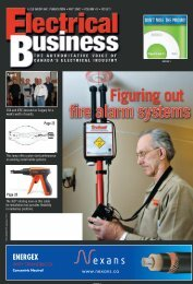 FIRE ALARMS: the missing pieces - Electrical Business Magazine