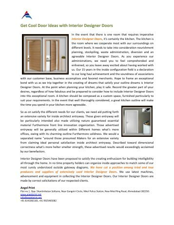 Glow Laminated Doors with New Design