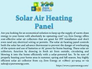 Solar Air Heating Panel Service