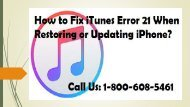 How to Fix iTunes Error 21 When Restoring or Updating iPhone