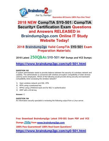 (2018-March-Version)New SY0-501 PDF and VCE Dumps 250Q Free Share(183-193)