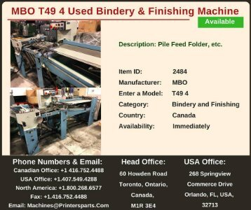 Buy Used MBO T49 4 Bindery and Finishing Machine