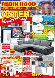 Megakracher: Oster-Vorteilswochen bei Robin Hood Möbel und Küchen, 78166 Donaueschingen