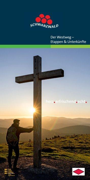 Westweg-Broschüre 2018 Etappen & Unterkünfte
