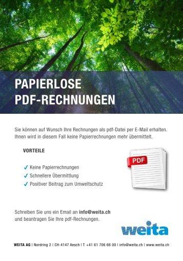 PDF Rechnungen
