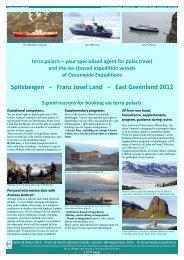 Spitsbergen – Franz Josef Land – East Greenland 2012 - Terrapolaris