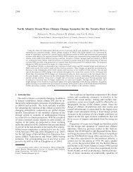 North Atlantic Ocean Wave Climate Change Scenarios for the ...