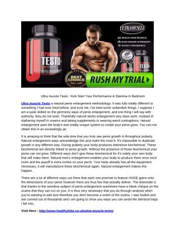 Ultra Muscle Testo - Easy Way To Increase Muscle Mass And Sex Drive