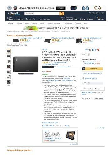 XP-Pen Star05 Wireless 2.4G Graphics Drawing Tablet Digital tablet
