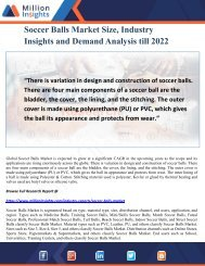 Soccer Balls Market Size, Industry Insights and Demand Analysis till 2022