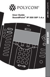 1 3 5 4 6 8 7 9 0 2 User Guide SoundPoint® IP ... - Polycom Support