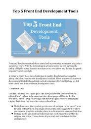 Top 5 Front End Development Tools
