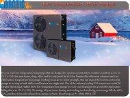Low Temperature Heat Pumps