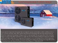 Low Temperature Heat Pumps