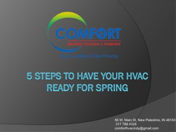 5 steps to have your HVAC