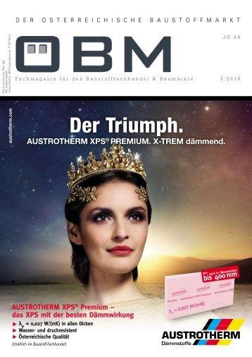 2018-2-3 OEBM Der Österreichische Baustoffmarkt - Der Triumph. AUSTROTHERM X-trem dämmend