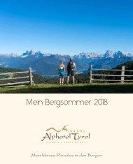 Alphotel Tyrol Sommerpreislisten 2018