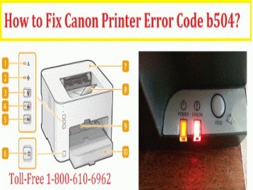 Call 1-800-213-8289 to Fix Canon Printer Error Code b504