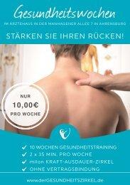 Gesundheitszirkel Flyer Rücken-Aktion
