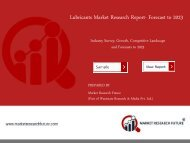 Lubricants Market 2018: Share, Competitor Strategy, Industry Trends by Forecast to 2023