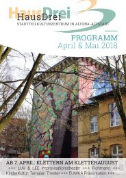 HausDrei Programm April/ Mai 2018