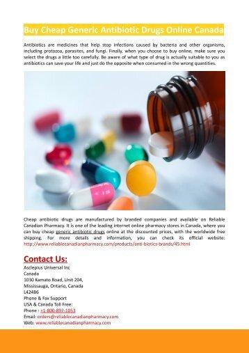 Buy Cheap Generic Antibiotic Drugs Online Canada