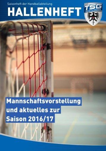 Saisonheft der Handballabteilung Hallenheft 2016/17