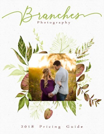 Branches Photography 2018 Pricing Guide