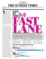 LIFE IN THE FAST LANE – THE SUNDAY TIMES – YORK'S ULTRA FIBRE OPTIC