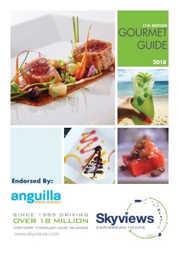2018 Skyviews Anguilla Gourmet Guide- Restaurants in Anguilla