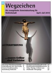 Wegzeichen2018 April-Juli