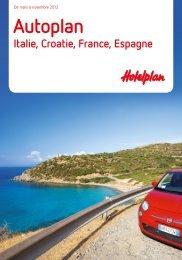 HOTELPLAN AutoplanItalieCroatie 2012