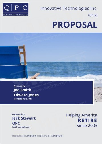 Innovative Technologies Inc. Proposal