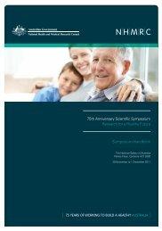 Symposium Handbook (PDF - National Health and Medical ...