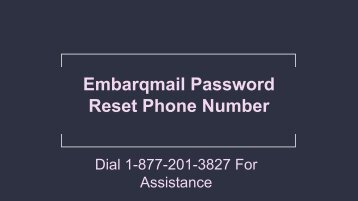 Embarqmail Password Reset Phone Number 1-877-201-3827