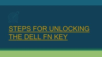 Steps for Unlocking the Dell Fn Key