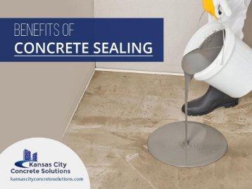 Benefits of Concrete Sealing