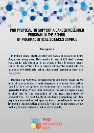PhD Cancer Research Sample