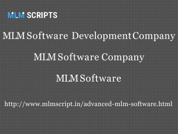 MLM Software, MLM Software Company, MLM Software Development Company