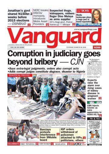 20032018 - Corruption in judiciary goes beyond bribery — CJN