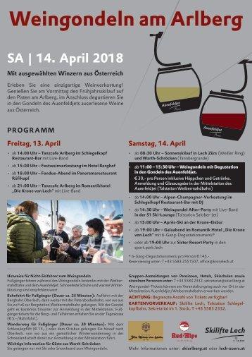 Weingondeln am Arlberg_Infoplakat_2018