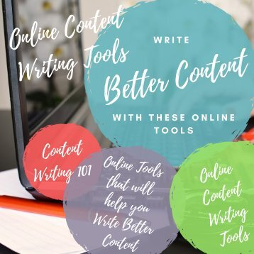 Write Better Content With These Online Tools