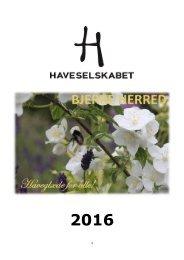 Årsprogram 2016 Bjerre Herred Kreds