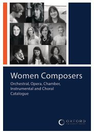 OUP Women Composers Orchestral, Opera, Chamber, Instrumental and Choral Catalogue
