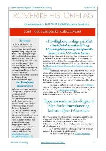 E-meldingsblad mars 2018